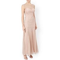 Monsoon - Gold Elizabeth maxi dress