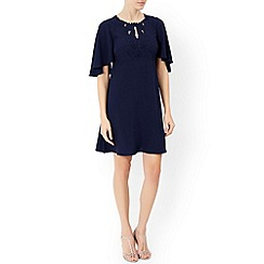 Monsoon - Blue Fiorella embroidered tunic dress