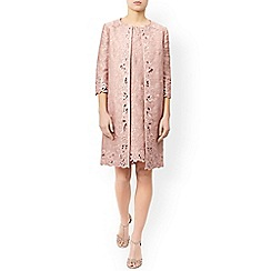 Monsoon - Pink 'Daisy' jacquard jacket