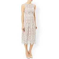 Monsoon - White 'Heather' lace dress