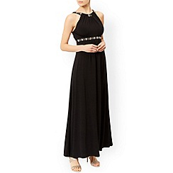 Monsoon - Black Giselle jersey maxi dress