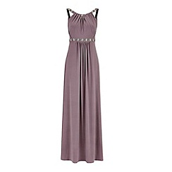 Monsoon - Grey Giselle jersey maxi dress