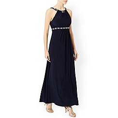 Monsoon - Blue Giselle jersey maxi dress