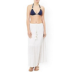Monsoon - White 'Cora' boho maxi skirt