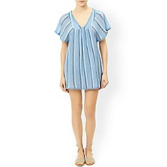 Monsoon - Blue 'Isabella' stripe kaftan