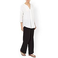 Monsoon - Black 'Fleur' linen trouser