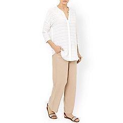 Monsoon - Grey 'Fleur' linen trouser