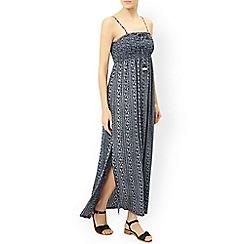 Monsoon - Blue 'Camie' printed bandeau dress