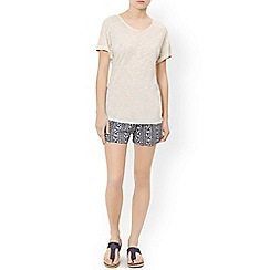 Monsoon - Ivory 'Lettie' linen t-shirt