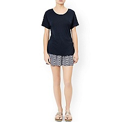 Monsoon - Blue 'Lettie' linen t-shirt