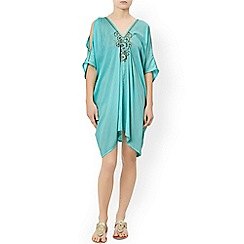 Monsoon - Blue 'Alexa' cold shoulder kaftan