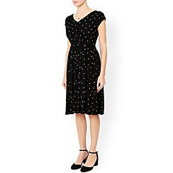 Monsoon - Black Peggy spot print dress