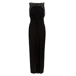 Monsoon - Black Moriarty embellished maxi dress