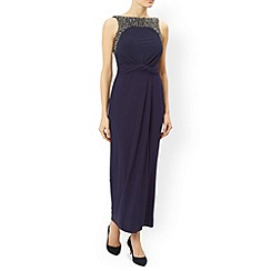 Monsoon - Blue Moriarty embellished maxi dress