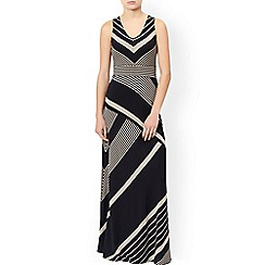 Monsoon - Black 'Melinda' stripe maxi dress