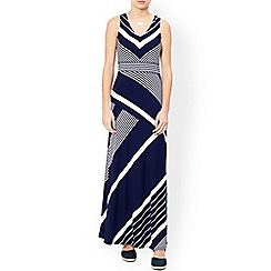 Monsoon - Blue 'Melinda' stripe maxi dress