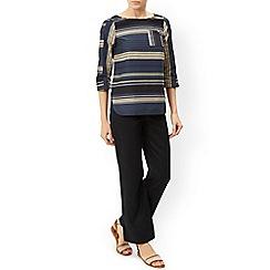 Monsoon - Black 'Lola' regular linen trouser