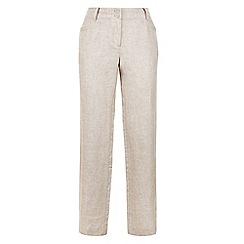 Monsoon - Cream 'Lola' regular linen trouser