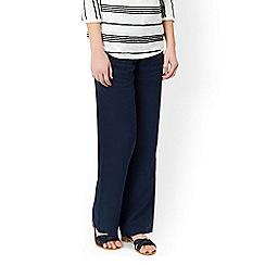 Monsoon - Blue 'Lola' regular linen trouser