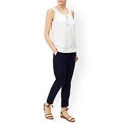 Monsoon - Blue 'Lexie' linen trouser