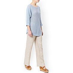 Monsoon - Cream Lola short linen trouser