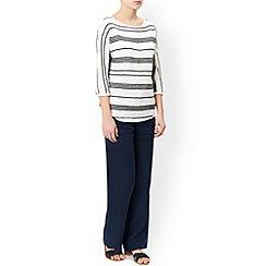 Monsoon - Blue Lola short linen trouser