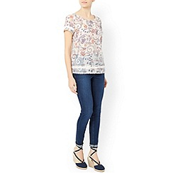 Monsoon - Ivory Matilda print top