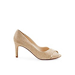 Monsoon - Gold 'Celestina' cross vamp dressy sandal