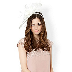 Monsoon - Cream 'Anastacia' feather flower fascinator