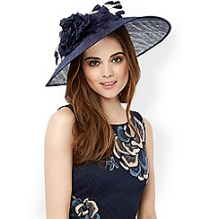 Monsoon - Blue 'Cleo' feather flower fascinator