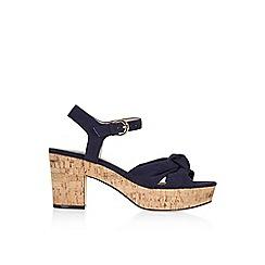Monsoon - Blue 'Safiya' soft knot platform sandal