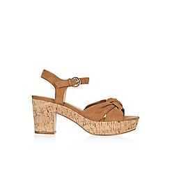 Monsoon - Tan 'Safiya' soft knot platform sandal