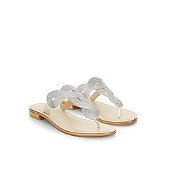 Monsoon - Silver 'Azalia' woven fabric sandal