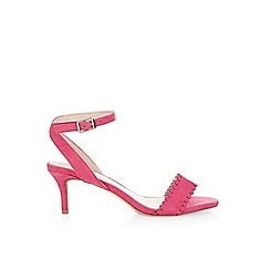 Monsoon - Pink 'Daisy' scallop mid heel shoe