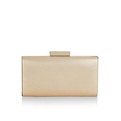 Monsoon - Gold Handbag 'Thalia' glitter box clutch bag