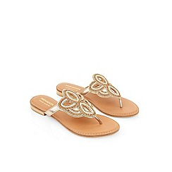 Monsoon - Pink Hyacinth beaded toepost sandal
