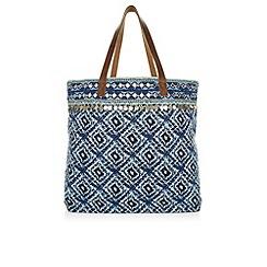 Monsoon - Blue Ferne printed beach bag
