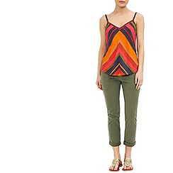 Monsoon - Orange Lucia stripe cami top