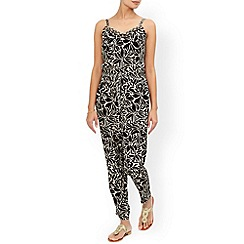 Monsoon - Black Merrilyn print jumpsuit