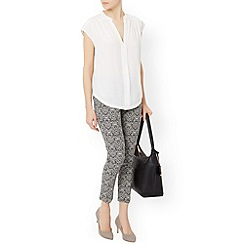 Monsoon - Ivory 'Greta' jacquard trouser