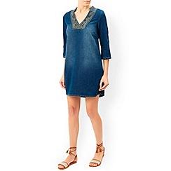 Monsoon - Blue Shola tunic dress