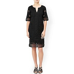 Monsoon - Black 'Freja' cutwork dress