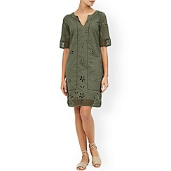 Monsoon - Green Freja cutwork dress