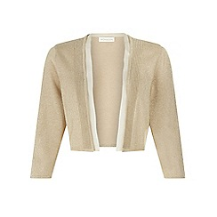 Monsoon - Gold 'Sacha' sparkle chiffon trim shrug