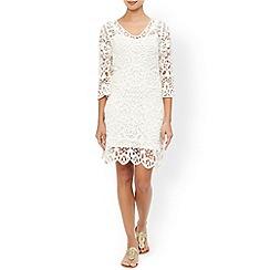 Monsoon - Ivory Cornelli crochet dress