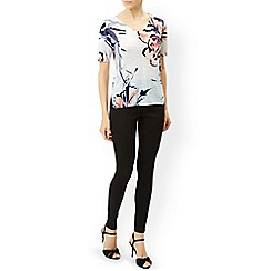 Monsoon - Multicoloured  'Rosely' painterly floral print top
