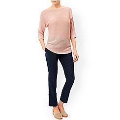 Monsoon - Pink 'Christy' linen ottoman jumper
