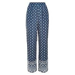 Monsoon - Blue 'Tia' printed palazzo trousers
