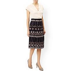Monsoon - Black 'Letitica' printed skirt