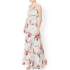 Monsoon - Ivory 'Kate' print maxi dress